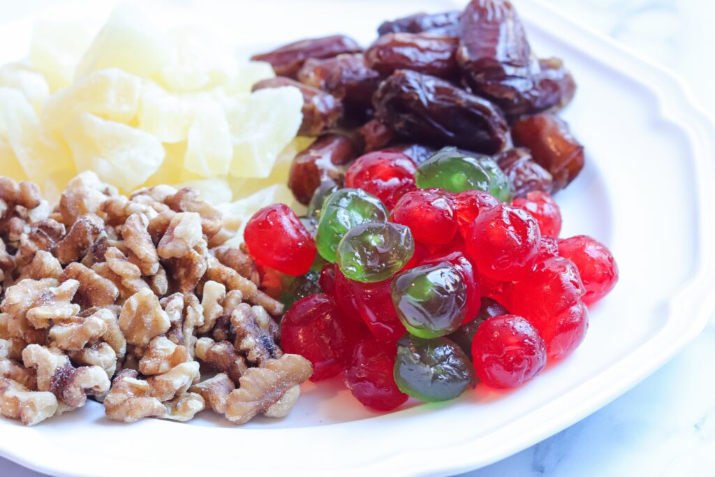 candied fruits and nuts